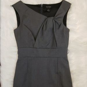 White House Black Market Gray Fitted Sheath Dress